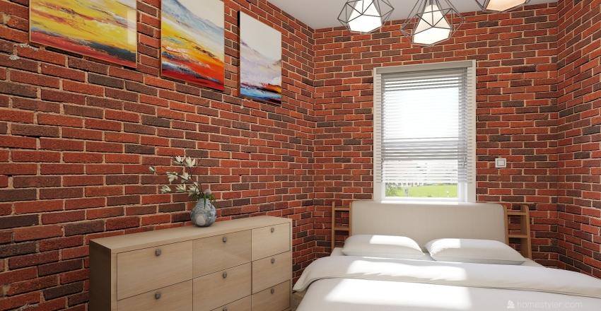 quarto rustico Interior Design Render