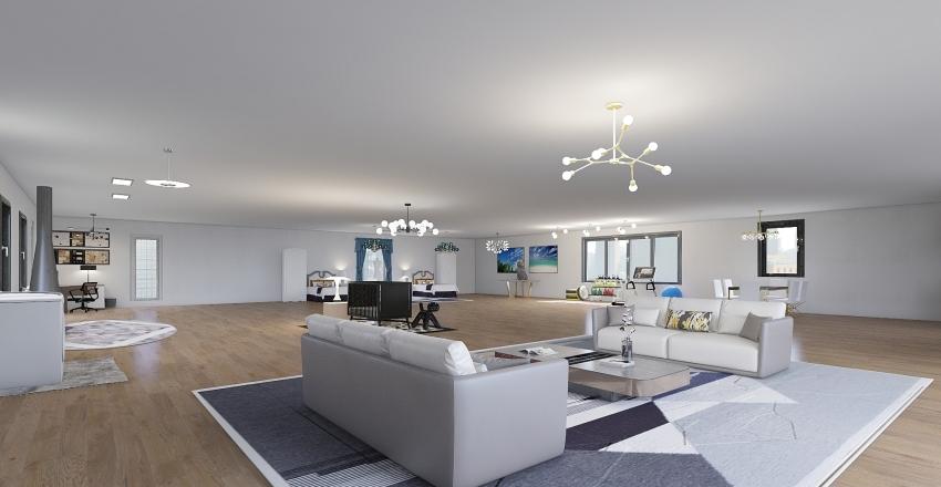 open house modern  Interior Design Render