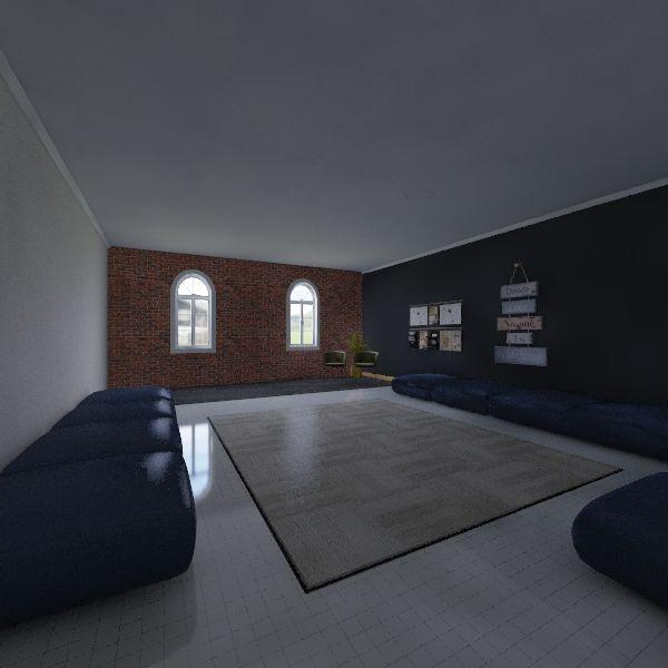 Sala Jovem IASD Interior Design Render