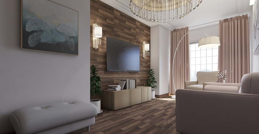 Living room / modern / small room Interior Design Render