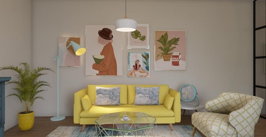 Pastel Interior Design Render