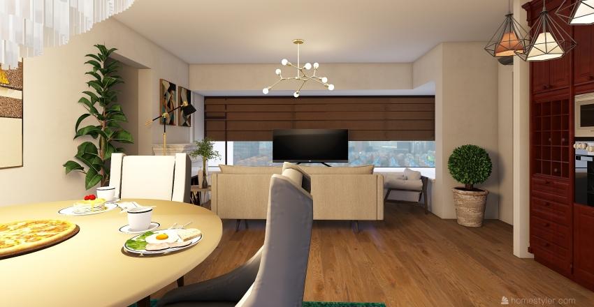 urban apartment  Interior Design Render