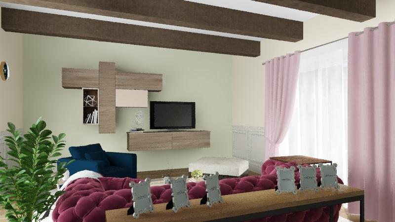 living room 3 Interior Design Render