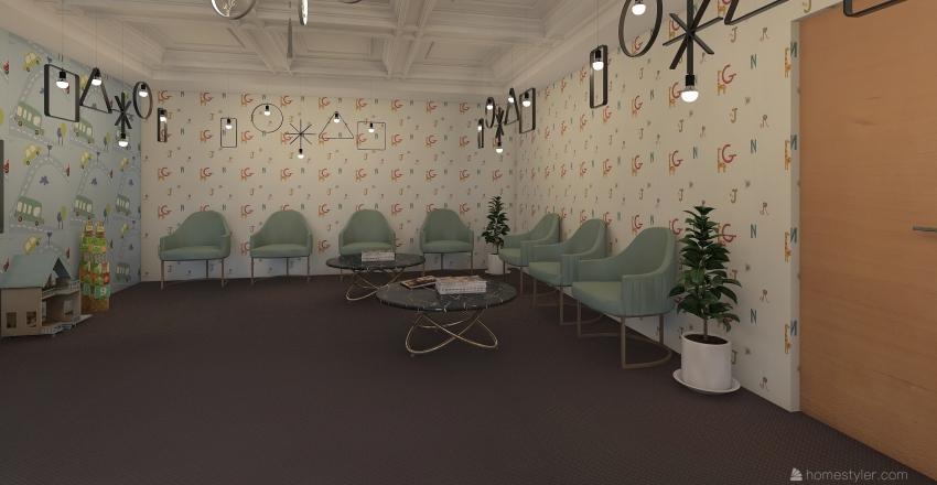 reciption Interior Design Render