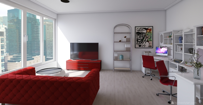 The Student Apartment Interior Design Render