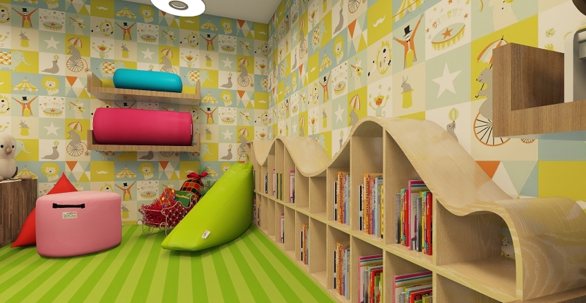 Toy store x-mas Interior Design Render