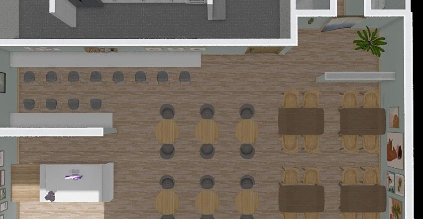 餐廳 Interior Design Render
