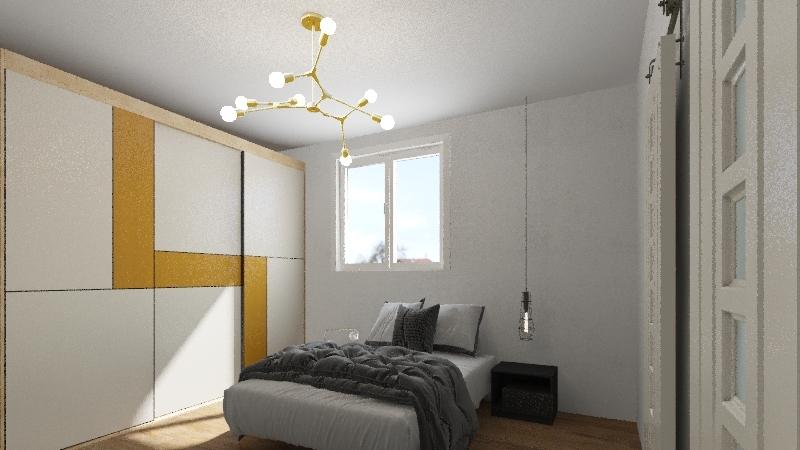 mike's bedroom Interior Design Render