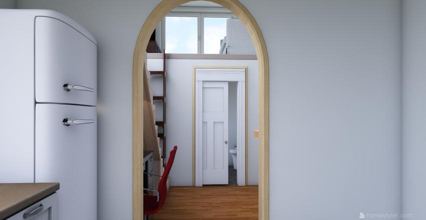 2 Story Tiny Home.  Interior Design Render