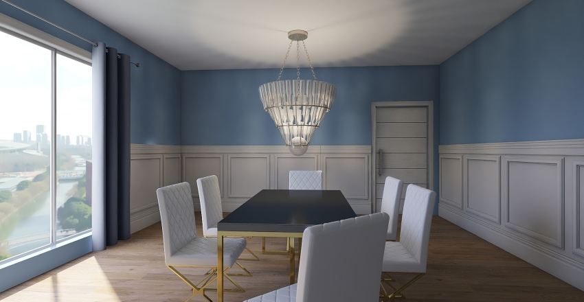 strange house Interior Design Render