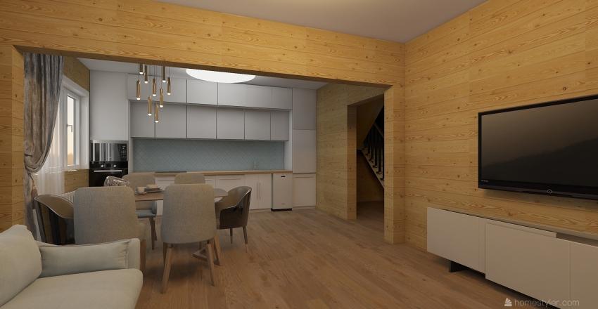 Дом Лесная 12 1 этаж Interior Design Render