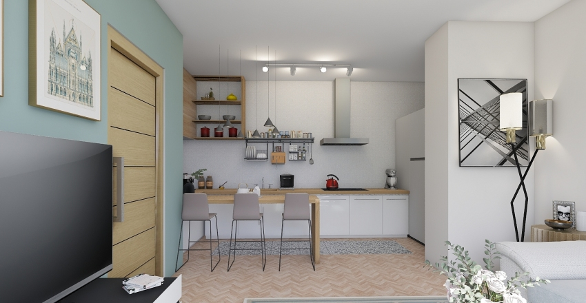 Very smal app. Interior Design Render
