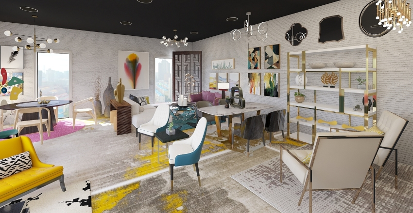 Furniture Boutique Interior Design Render