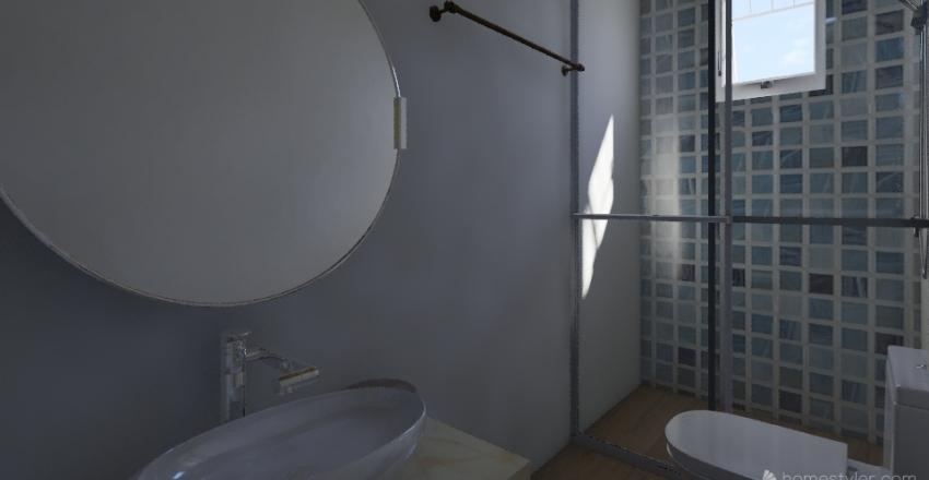 Apartamento compacto moderno Interior Design Render