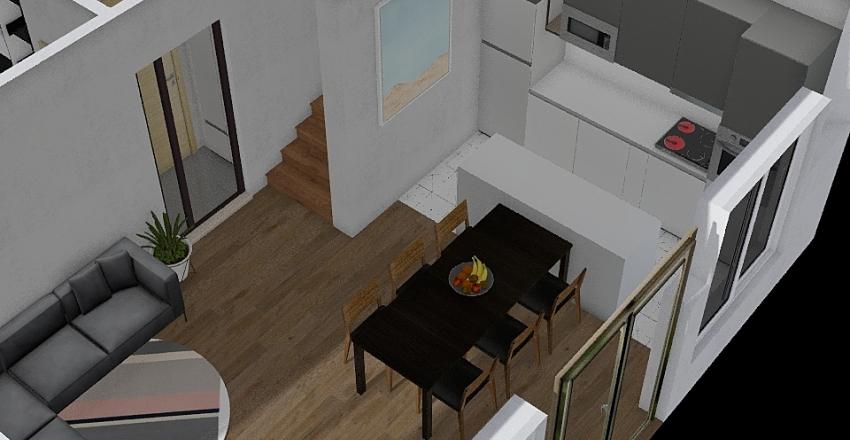 kokalyane_long_table Interior Design Render