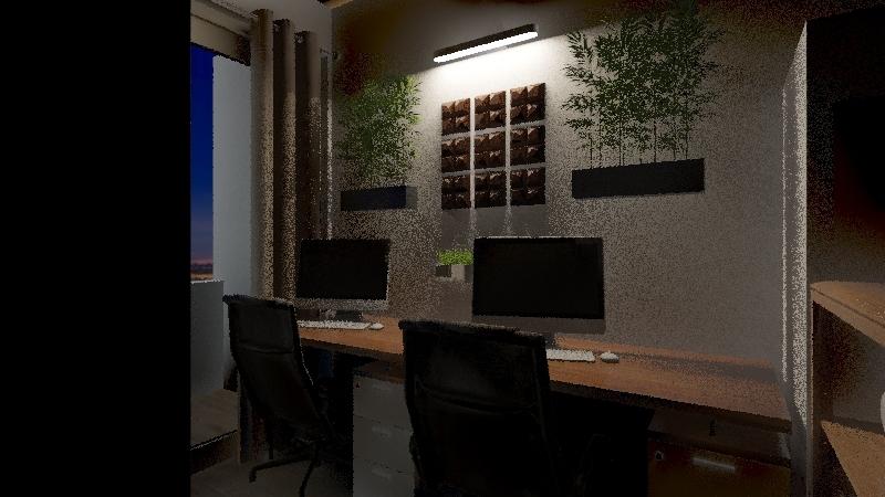 Filipino Minimalist Condo Unit v2 Interior Design Render