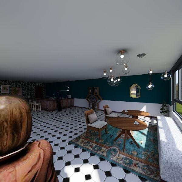 Retail Space Interior Design Render