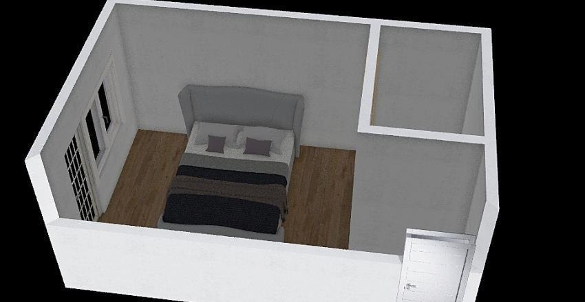 spálna Interior Design Render