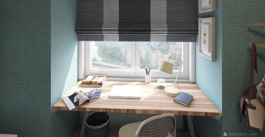 mini apartment  Interior Design Render