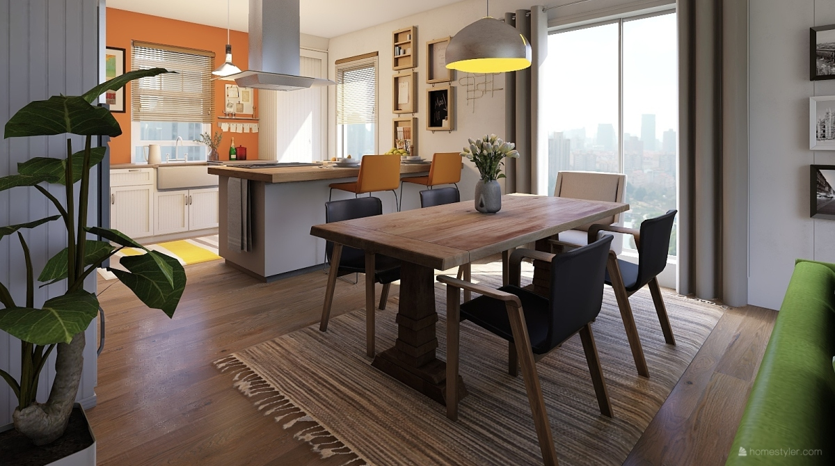 Flat with a view interior decoration rendering metis for Homestyler italiano