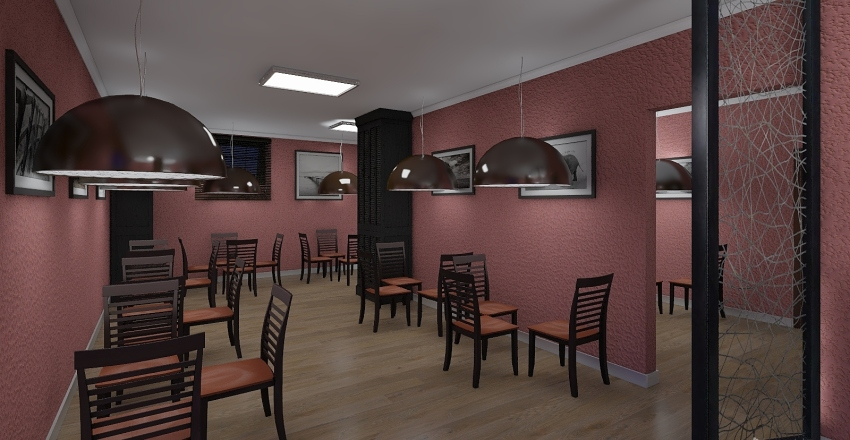 Projeto Anderson  Restaurante Interior Design Render