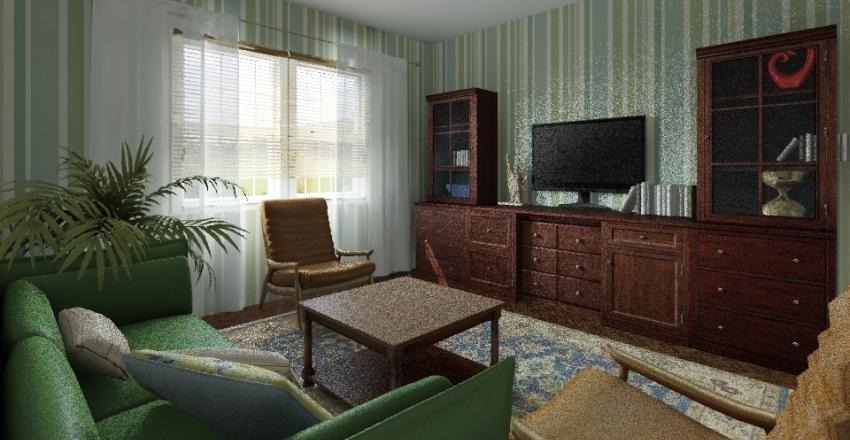 70'  style Interior Design Render