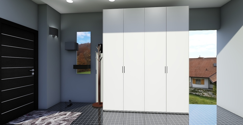 коридор Interior Design Render