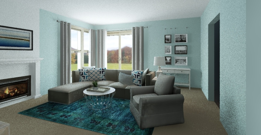 Cory Living Room Design Interior Design Render