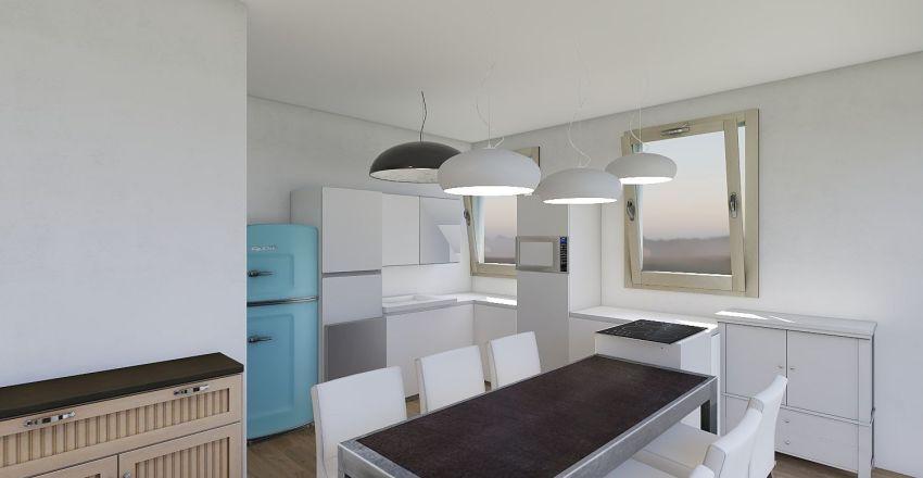 cuisine îlot Interior Design Render