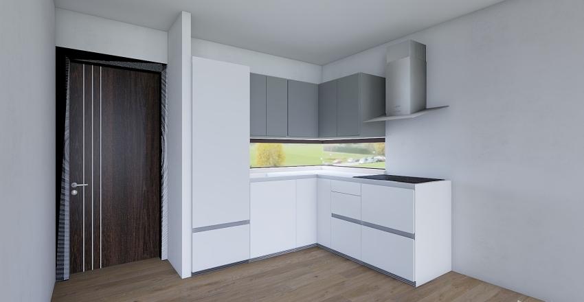 Dom modułowy segment 35m2 Interior Design Render