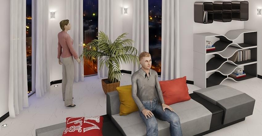 1 этаж - самый последний вариант серый Interior Design Render