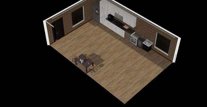 kitchen arrangement Interior Design Render