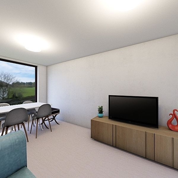 Sala Rentada Interior Design Render