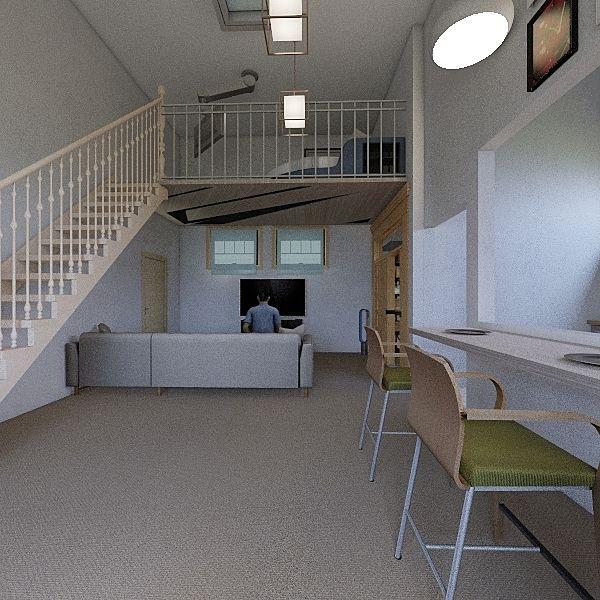 10 squared house Interior Design Render
