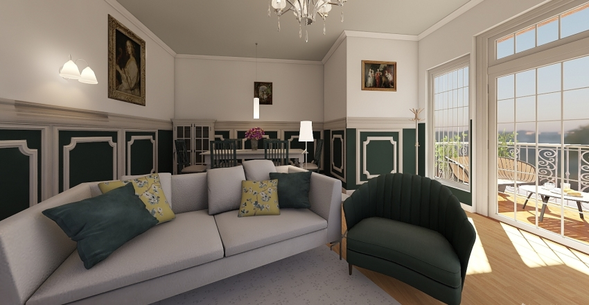 lili room Interior Design Render