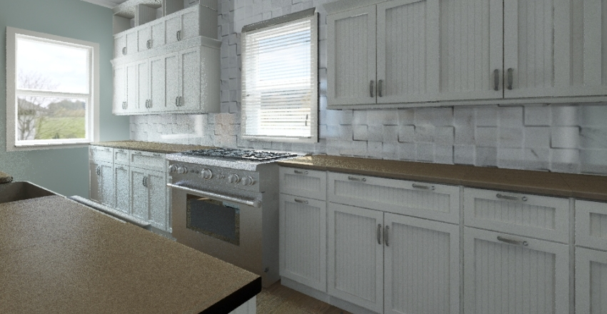 the blue cottage Interior Design Render