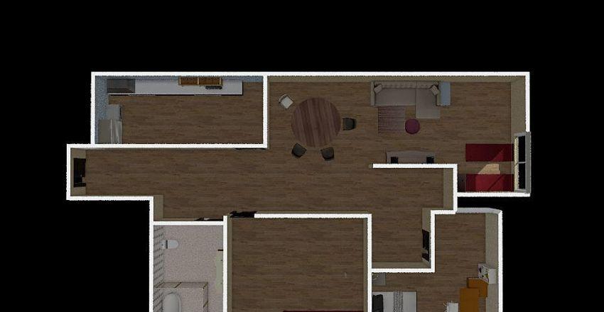jack leung apartment Interior Design Render