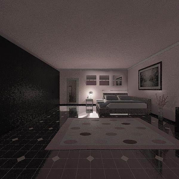 pink bedroom Interior Design Render