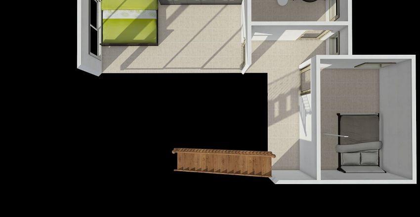 Nhà Q7 - có xe hơi - TRÊN LẦU Interior Design Render