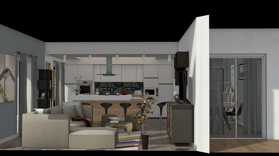 Open space in bergamo interior decoration rendering davide for Homestyler italiano