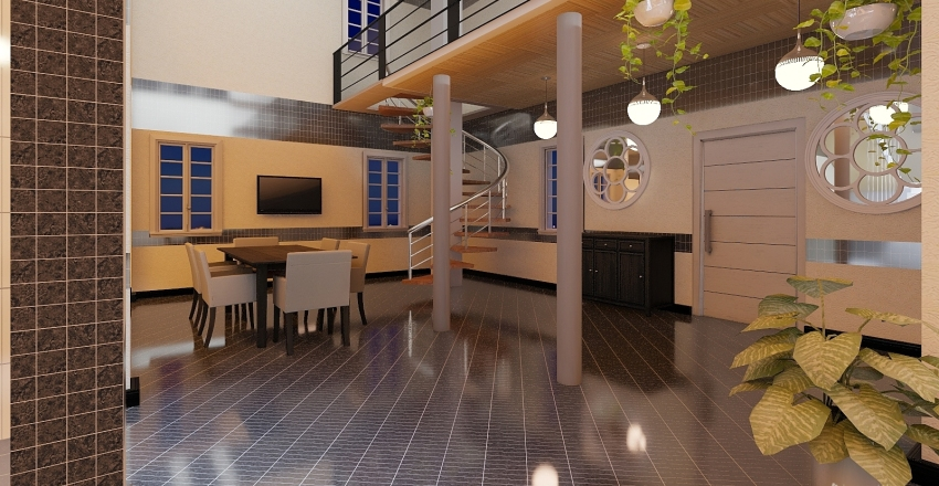 appartamento quadrilocale Interior Design Render