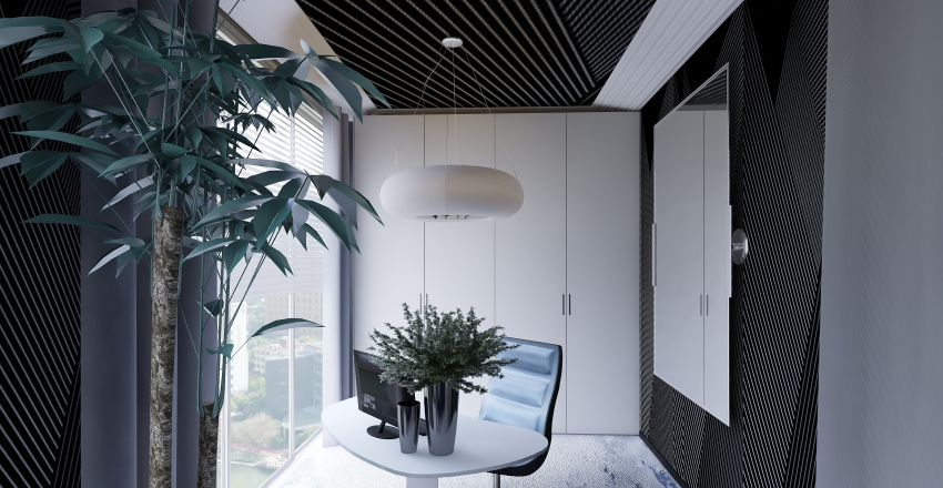 hotel master suite Interior Design Render