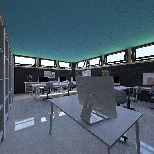 LEO COWORKING Interior Design Render