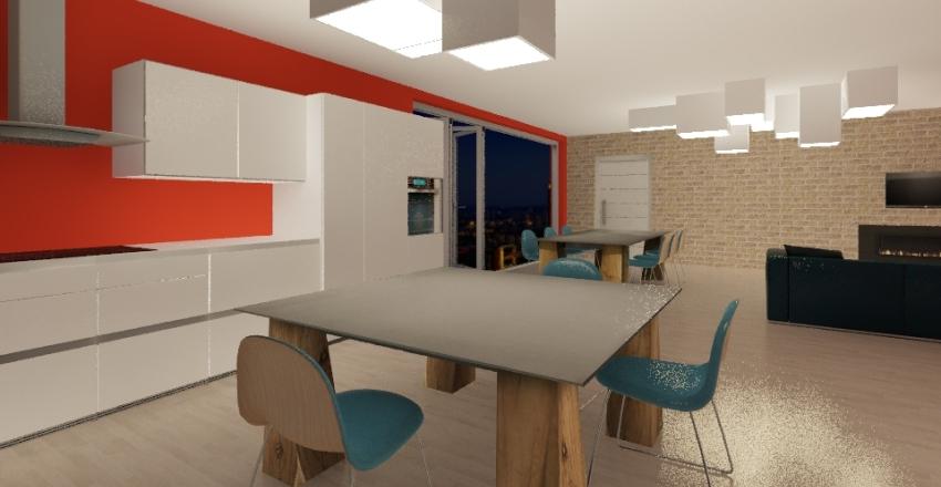 casa in collina Interior Design Render