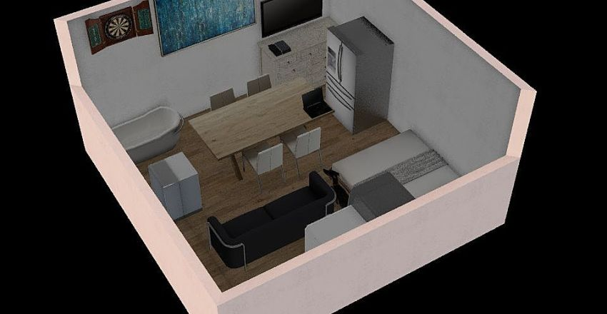 New York Apartment Interior Design Render