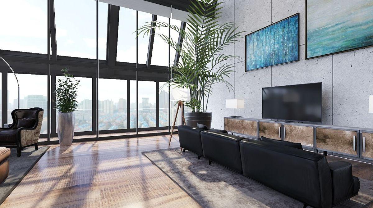 Industriale interior decoration rendering salvatore di for Homestyler italiano