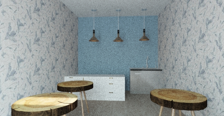 heladeria Interior Design Render
