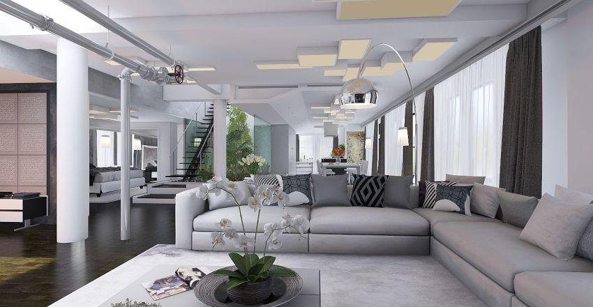 casa bianco e nero Interior Design Render