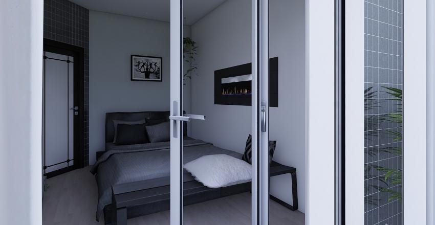 Small square house Interior Design Render
