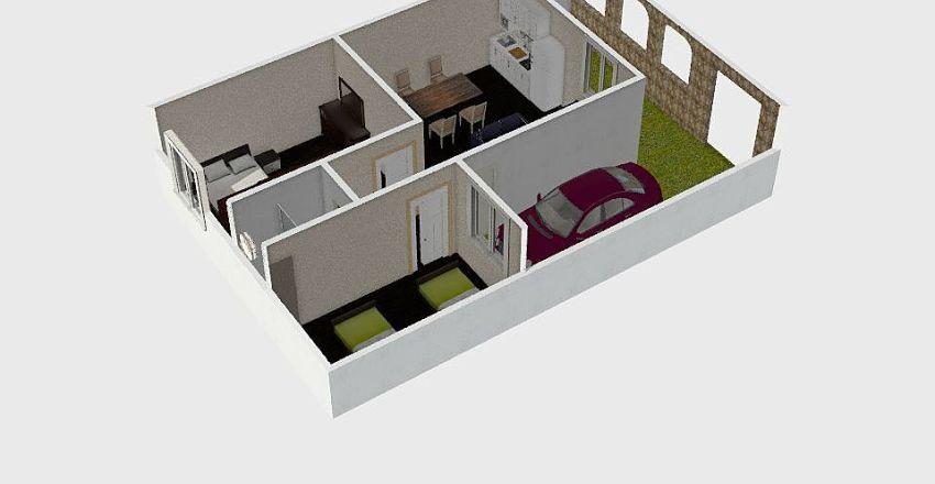 casa 1 planta Interior Design Render